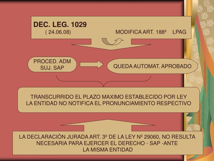 DEC. LEG. 1029