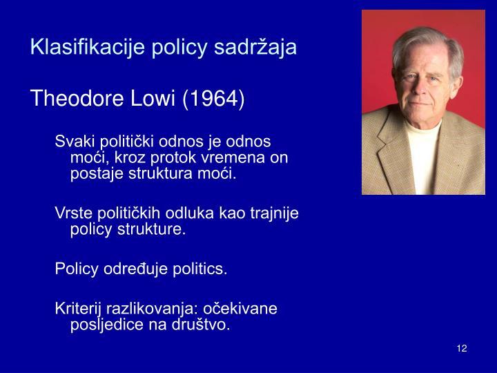 Klasifikacije policy sadržaja