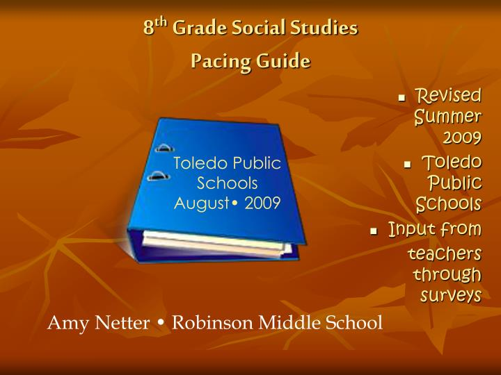 PPT 8 Th Grade Social Studies Pacing Guide PowerPoint