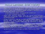 about landsat brief history