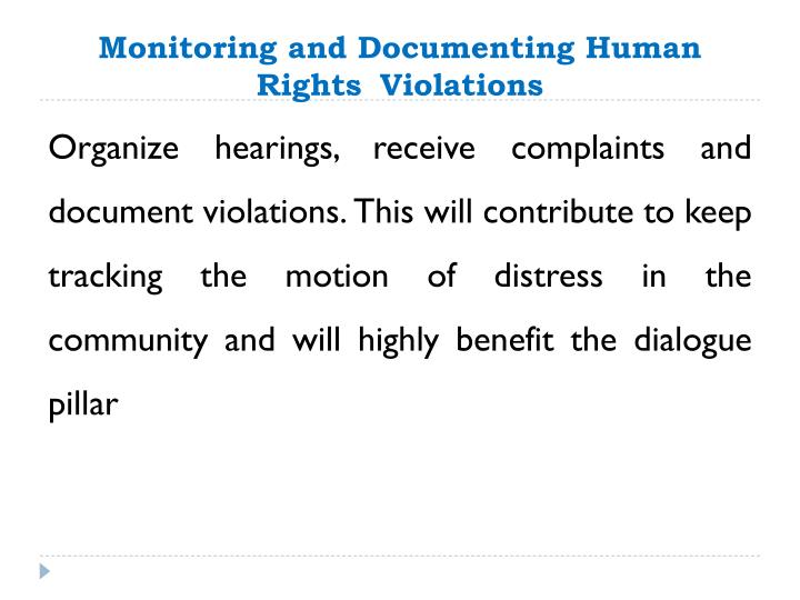 Monitoring and Documenting Human Rights
