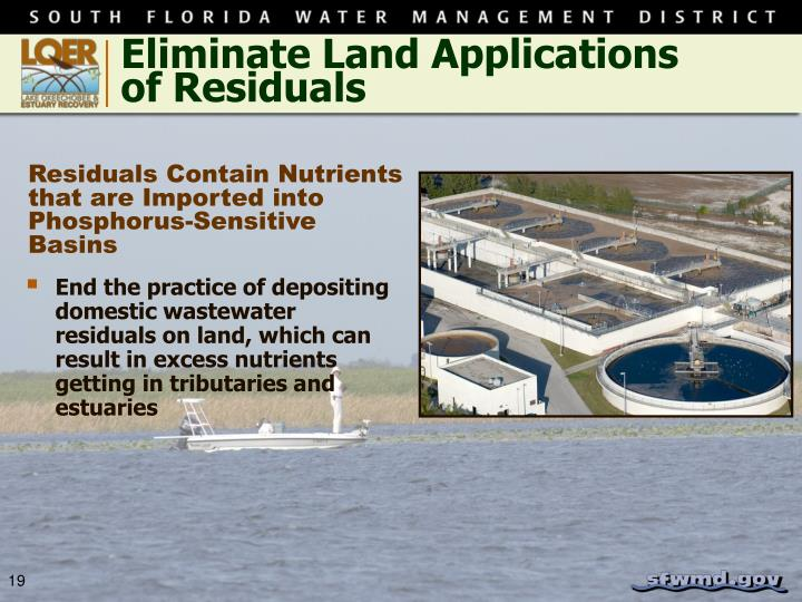 Eliminate Land Applications