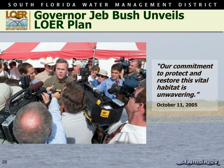 Governor Jeb Bush Unveils