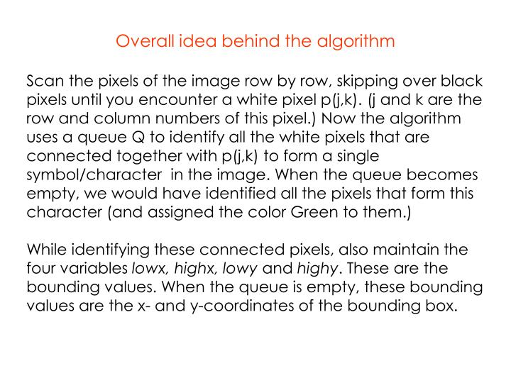 Overall idea behind the algorithm