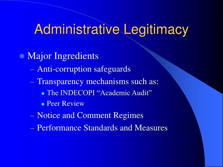 Administrative Legitimacy
