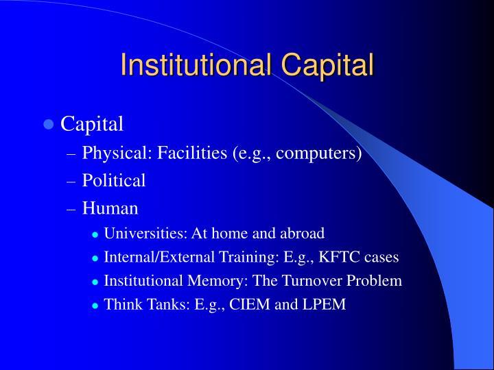 Institutional Capital