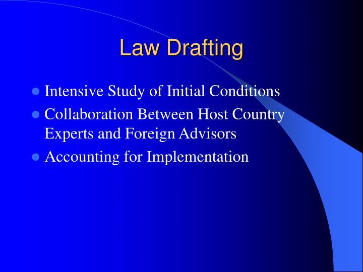 Law drafting
