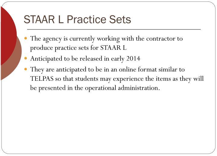 STAAR L Practice Sets