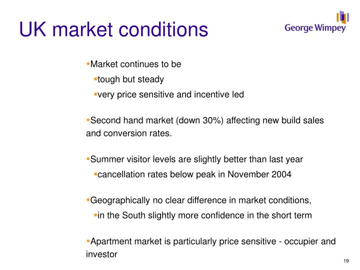 UK market conditions