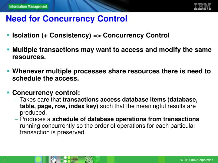 Need for Concurrency Control