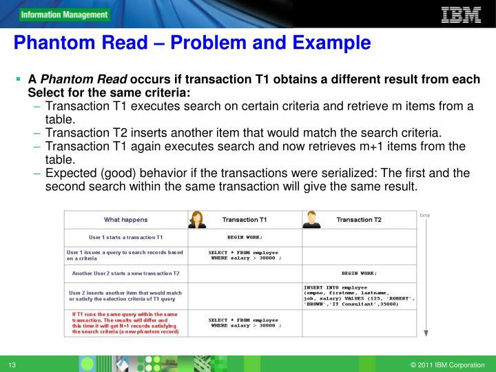Phantom Read – Problem and Example