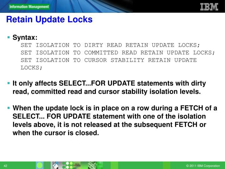 Retain Update Locks