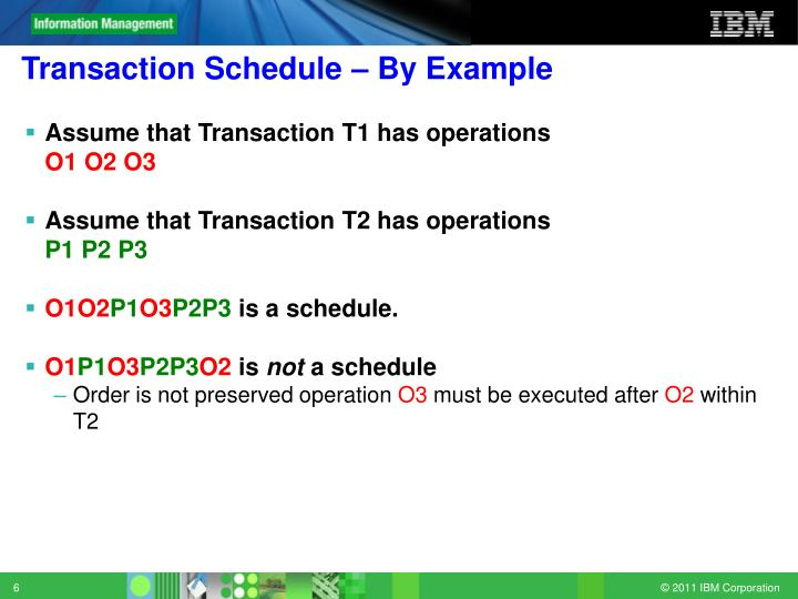 Transaction Schedule – By Example