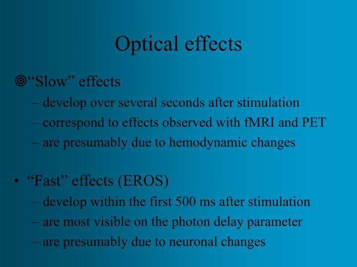 Optical effects