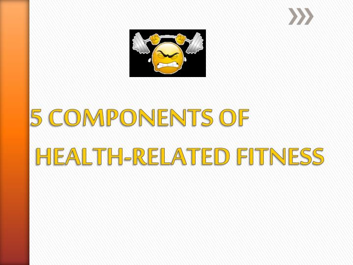 5 components of health related fitness n.