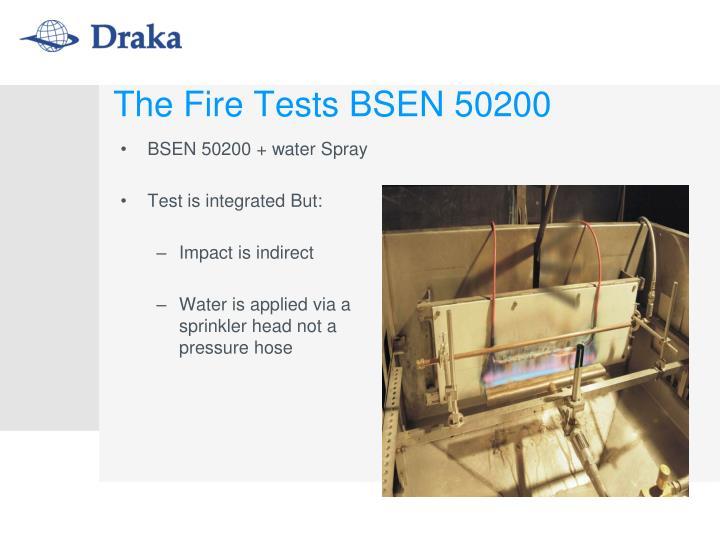 BSEN 50200 + water Spray