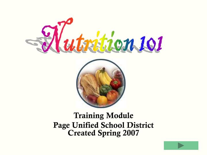 training module page unified school district created spring 2007 n.