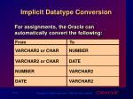 implicit datatype conversion