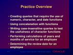 practice overview