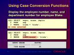 using case conversion functions