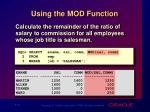 using the mod function