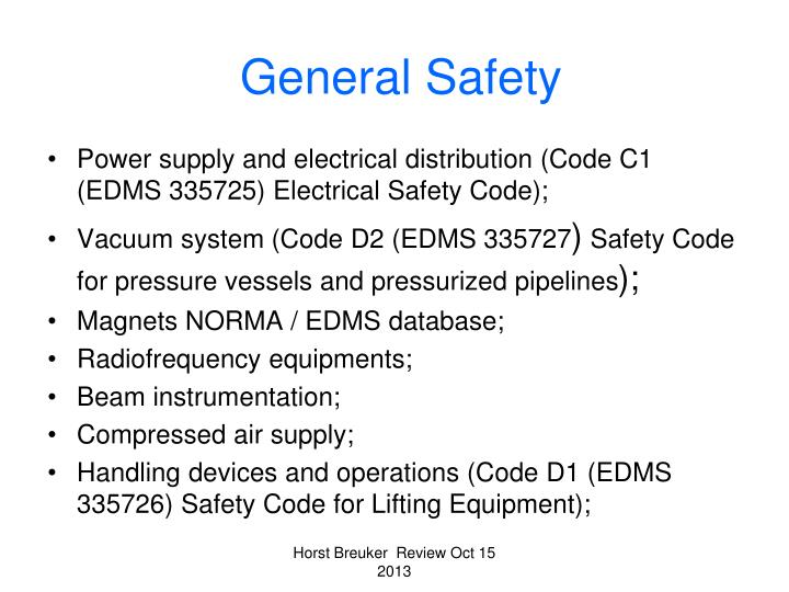 General Safety