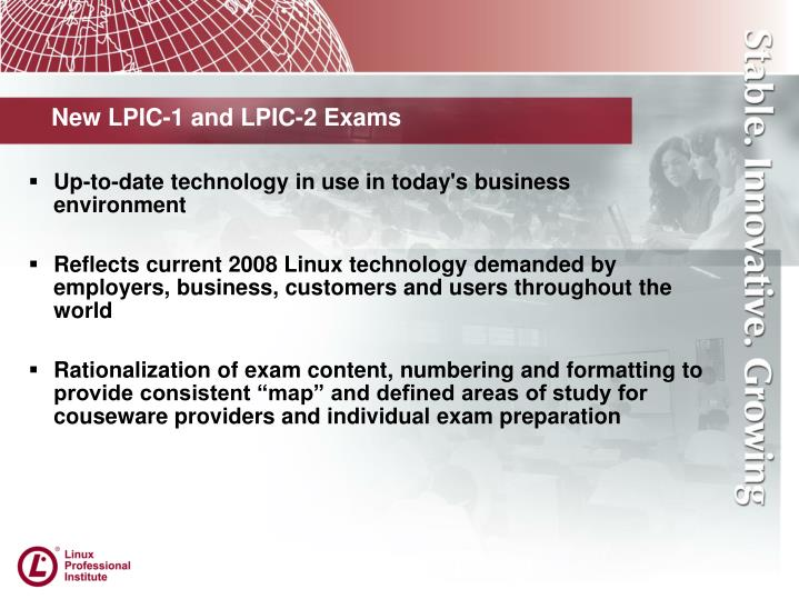 New lpic 1 and lpic 2 exams