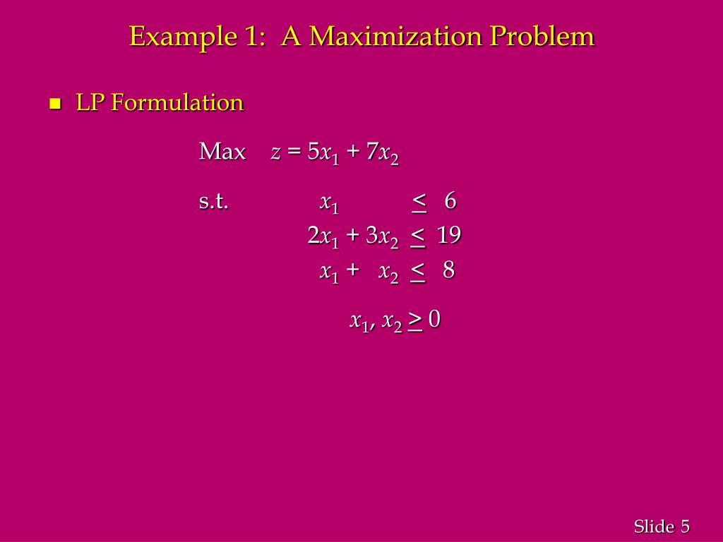 PPT - Linear Programming (LP) Problem PowerPoint Presentation - ID