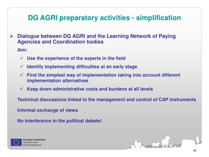 Dialogue between DG AGRI and the Learning Network of Paying Agencies and Coordination bodies