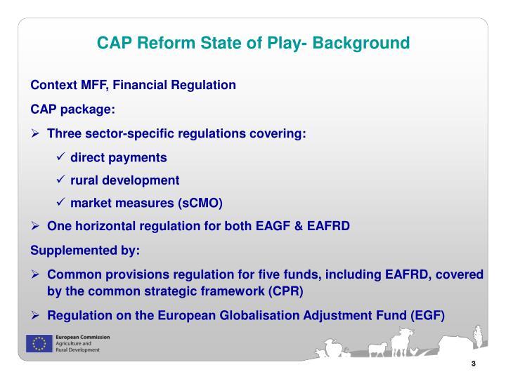Context MFF, Financial Regulation