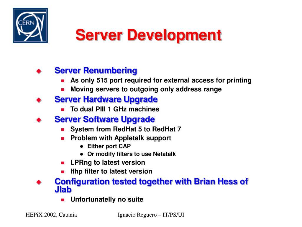 PPT - CERN PRINT Service Status Update PowerPoint