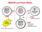 msp430 low power modes