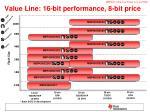 value line 16 bit performance 8 bit price