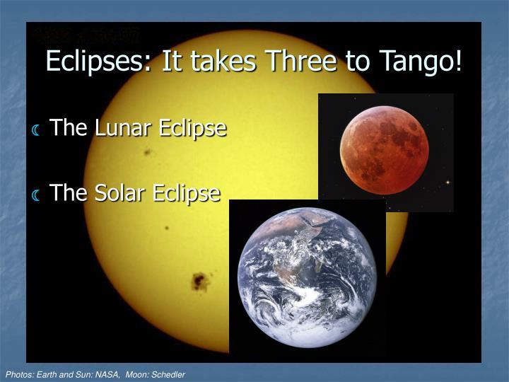 Eclipses: It takes Three to Tango!
