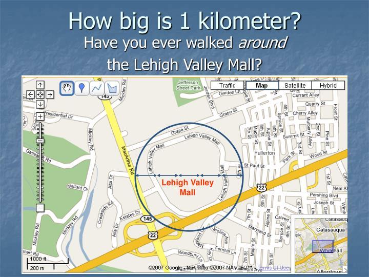 How big is 1 kilometer?