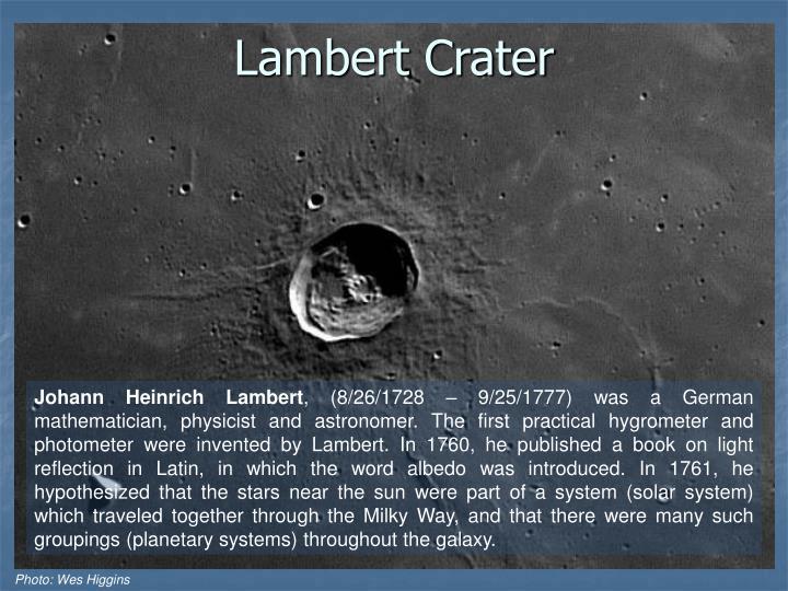 Lambert Crater