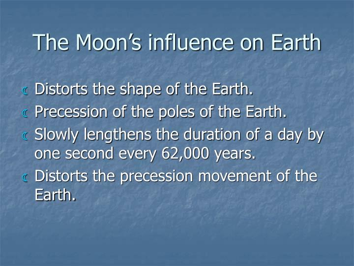 The Moon's influence on Earth