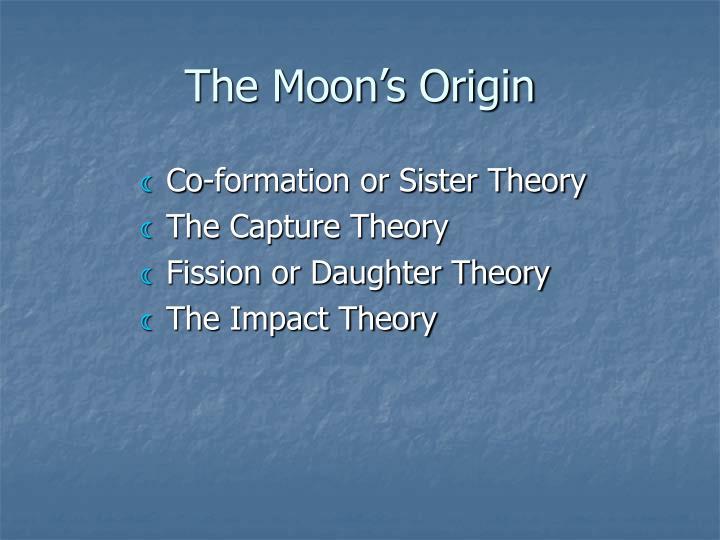 The Moon's Origin
