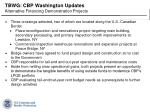 tbwg cbp washington updates alternative financing demonstration projects
