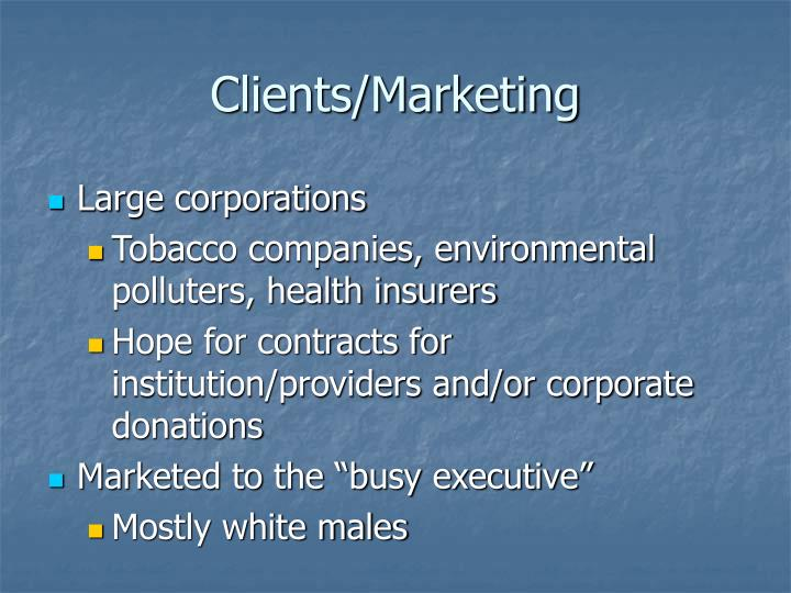 Clients/Marketing