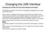 changing the lms interface4