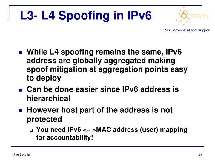L3- L4 Spoofing in IPv6