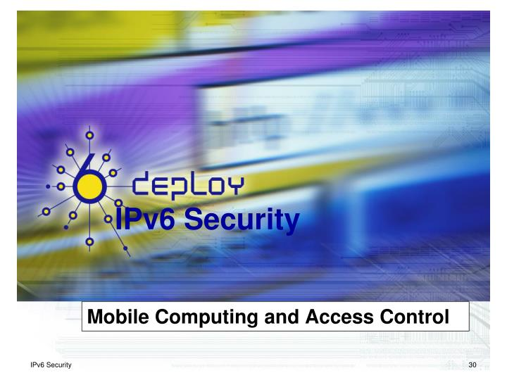 Mobile Computing and Access Control