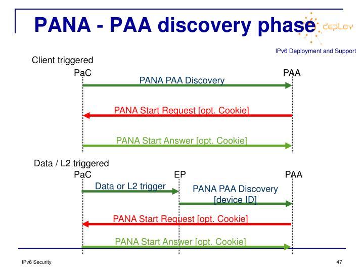 PANA - PAA discovery phase