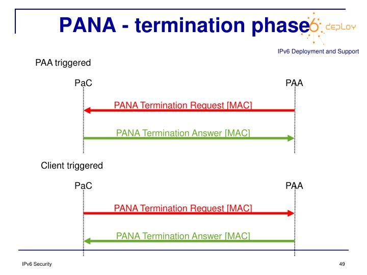 PANA - termination phase