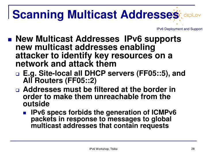 Scanning Multicast Addresses