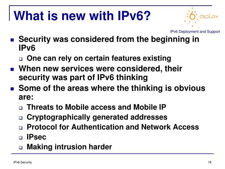 What is new with IPv6?