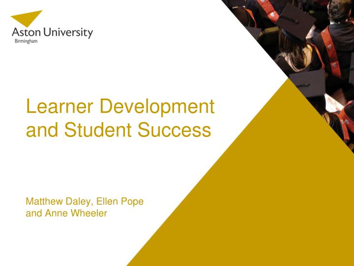 learner development and student success n.