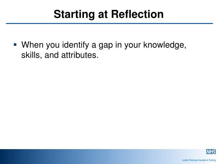 Starting at Reflection