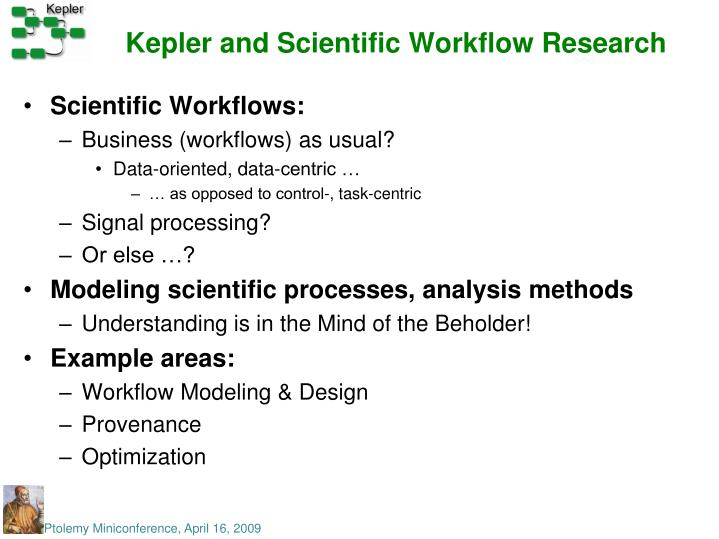 Kepler and Scientific Workflow Research